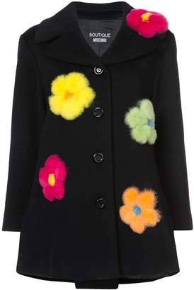Moschino single breasted flower coat