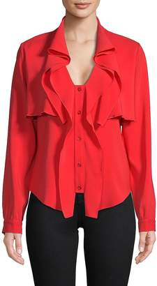 Oscar de la Renta Women's Ruffled Long-Sleeve Blouse