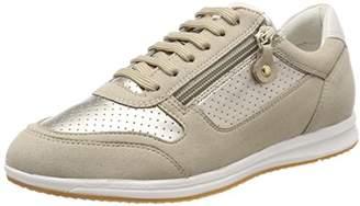 Geox Women's D Avery A Low-Top Sneakers, (Lt Gold/Beige)