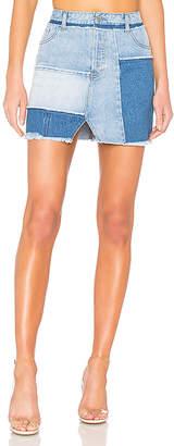KENDALL + KYLIE Denim Patchwork Skirt.