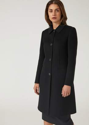 Emporio Armani Pure Cashmere Single-Breasted Coat With Tab