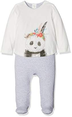Mamas and Papas Baby Girls' Panda Mock Layer All in One Sleepsuits,(Manufacturer Size: New Born)
