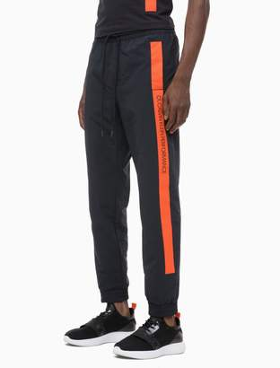 Calvin Klein Bold Stripe Tapered Track Pants