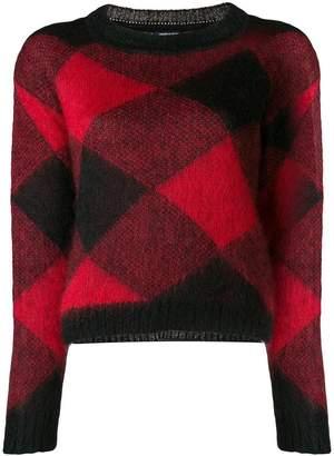 Woolrich diamond pattern jumper