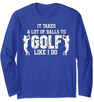Funny Golfer Long Sleeve Shirt