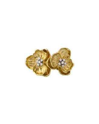 Michael Aram 18k Double Orchid Ring w/ Diamonds