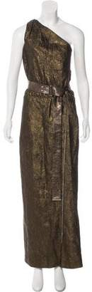 Louis Vuitton Metallic Crepe Dress