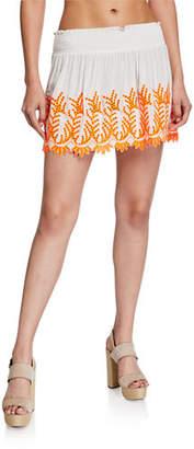Ramy Brook Junia Eyelet Short Skirt