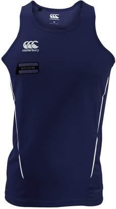 Canterbury of New Zealand Mens Team Dry Sleeveless Singlet Sports Vest (M) (Navy/White)