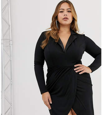 Club L London Plus Plus tuxedo dress