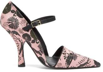 Erdem Mya Mary Jane Pumps - Womens - Black Pink