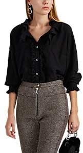 Faith Connexion Women's Ruffle Silk Blouse - Black