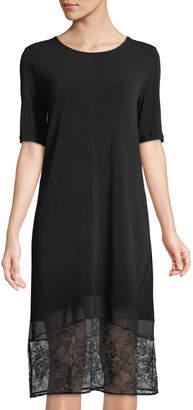BCBGeneration Lace-Hemmed Midi Dress