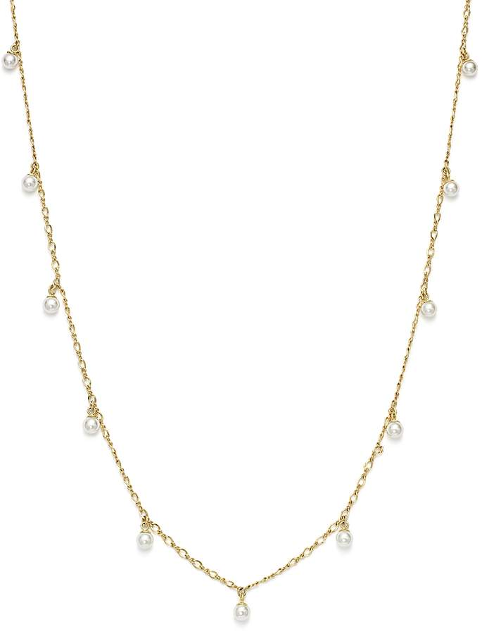 Cultured Freshwater Pearl Dangle Necklace in 14K Yellow Gold, 17 - 100% Exclusive