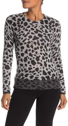 Magaschoni M Leopard Print Cashmere Sweater