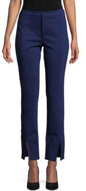 MICHAEL Michael Kors Slit-Cuff Seam Accent Ankle Pants