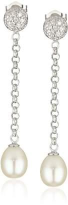 Bella Pearl Dangling Chain Earrings