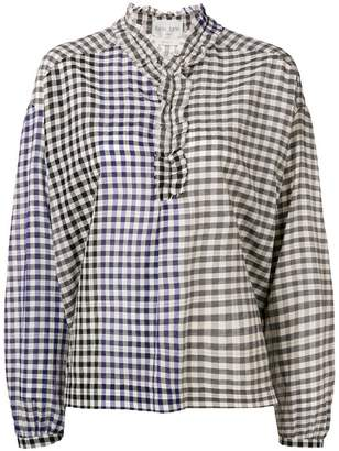 Forte Forte checked ruffle blouse