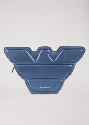 Emporio Armani Eagle-Shaped Leather Bag