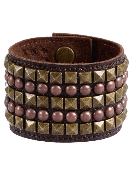 Leather Studded Cuff Bracelet