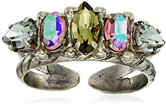 Sorrelli Pear and Oval Crystal Ring