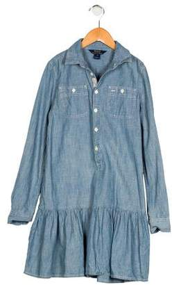 Polo Ralph Lauren Girls' Chambray Collared Dress