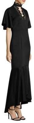 Shoshanna Choker Flounce Dress