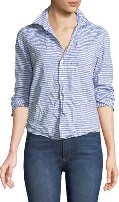 Frank And Eileen Barry Striped Poplin Button-Down Top