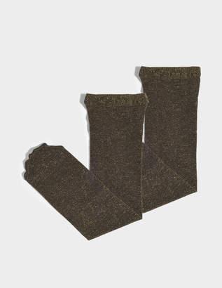 Maria La Rosa Toe Soft Metallic Socks in Black and Gold Polyamide and Lurex