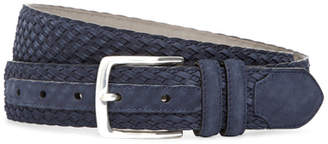 Brooks Brothers Suede Woven Belt