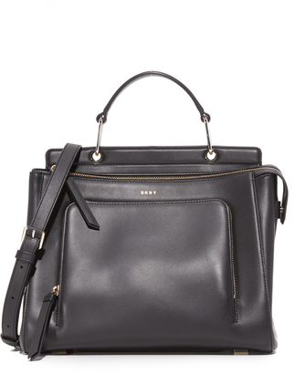 DKNY Grennwich Medium Top Handle Satchel $478 thestylecure.com