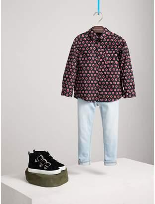Burberry Spot Print Cotton Shirt