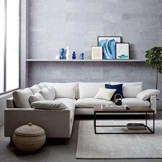 west elm Harmony Down-Filled L-Shaped Sectional - Oyster (Eco Weave)