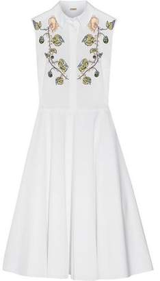 ADAM by Adam Lippes Embroidered Cotton-poplin Midi Dress