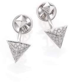 Marli Astrid Diamond& 18K White Gold Ear Jacket& Stud Earrings Set