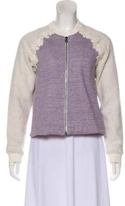 Giamba Embroidered Zip-Up Jacket