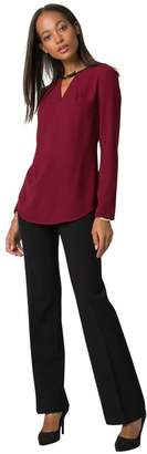 Le Château Women's Long Sleeve Crew Neck Blouse,XXS