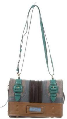 402741f9aa66 Prada 2017 Glace Calf Etiquette Patch Shoulder Bag