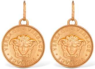 Versace Medusa Coin Earrings