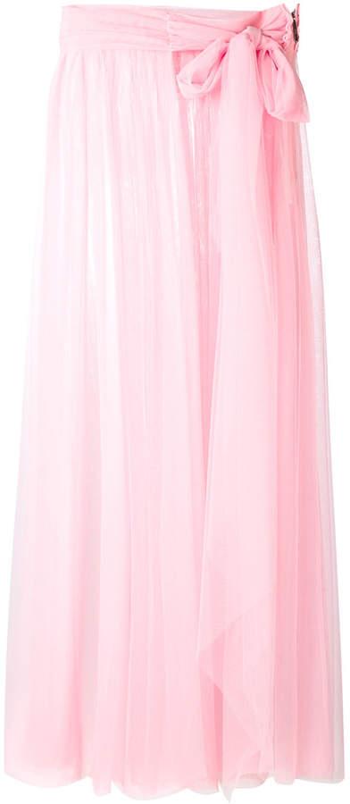 MSGM sheer tulle skirt