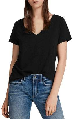 AllSaints Emelyn Tonic Raw-Edge Tee