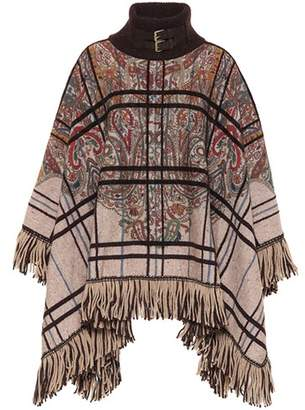 Etro Wool and silk-blend poncho