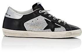 Golden Goose Women's Superstar Leather & Glitter Sneakers - Black