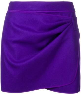 No.21 draped mini skirt