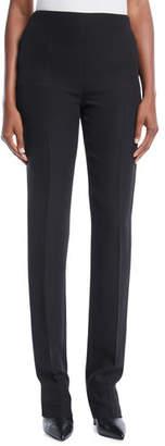 Valentino Side-Zip Silk Cady Skinny Pants