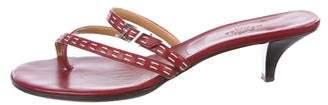 Hermes Leather Slide Sandals