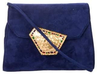 Nina Ricci Embellished Suede Crossbody Bag