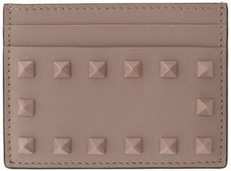 Valentino Pink Garavani Tonal Rockstud Card Holder