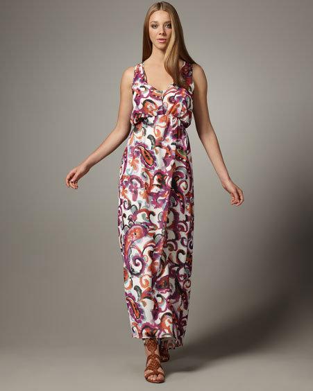Patterson J. Kincaid Brea Paisley-Print Maxi Dress