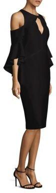 Shoshanna Bell Sleeve Cold Shoulder Crepe Dress $395 thestylecure.com